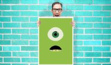Monsters inc Mike Art - Wall Art Print Poster   - Kids Children Bedroom Geekery
